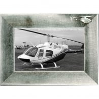 Pewter Photo Frame - Bell 206