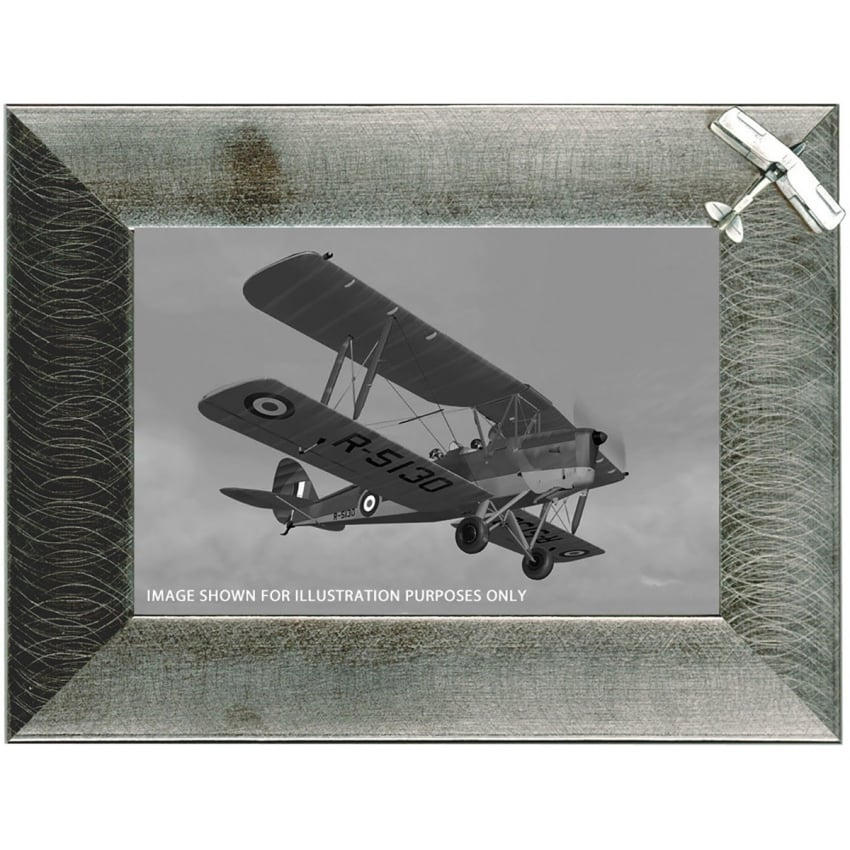 Pewter Photo Frame - Tiger Moth