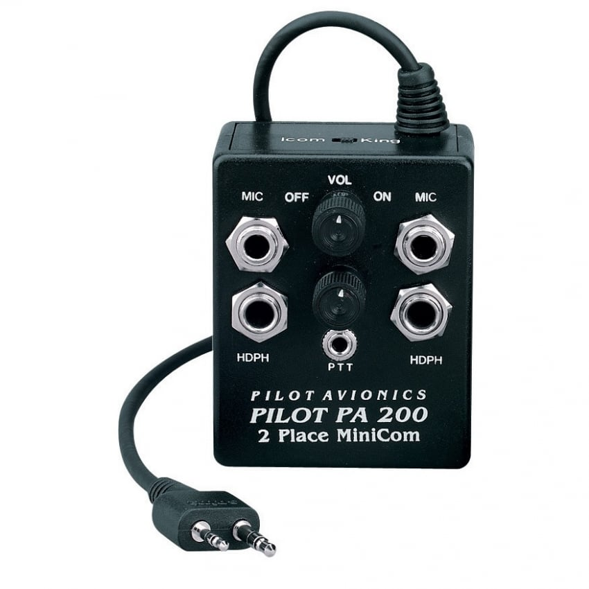 Pilot PA200 A24 Intercom for Icom A6 & A24 Radios