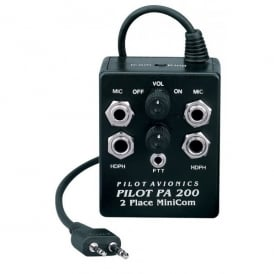 Pilot Communications Pilot PA200 A24 Intercom for Icom A6 & A24 Radios