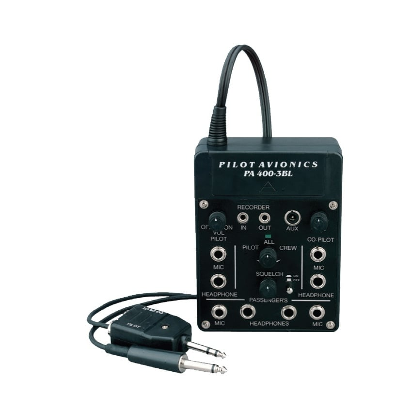 Pilot PA400 3BL 4 Way Intercom for Aircraft Radios