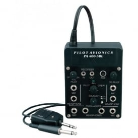 Pilot Communications Pilot PA400 3BL 4 Way Intercom for Aircraft Radios