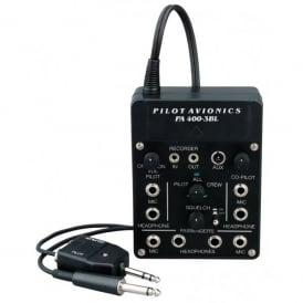 Pilot Communications Pilot PA400 ASC-T Portable 4 Station Stereo Intercom with Mobile Phone Input