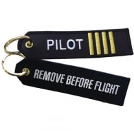 Pilot Stripes RBF Embroidered Keyring