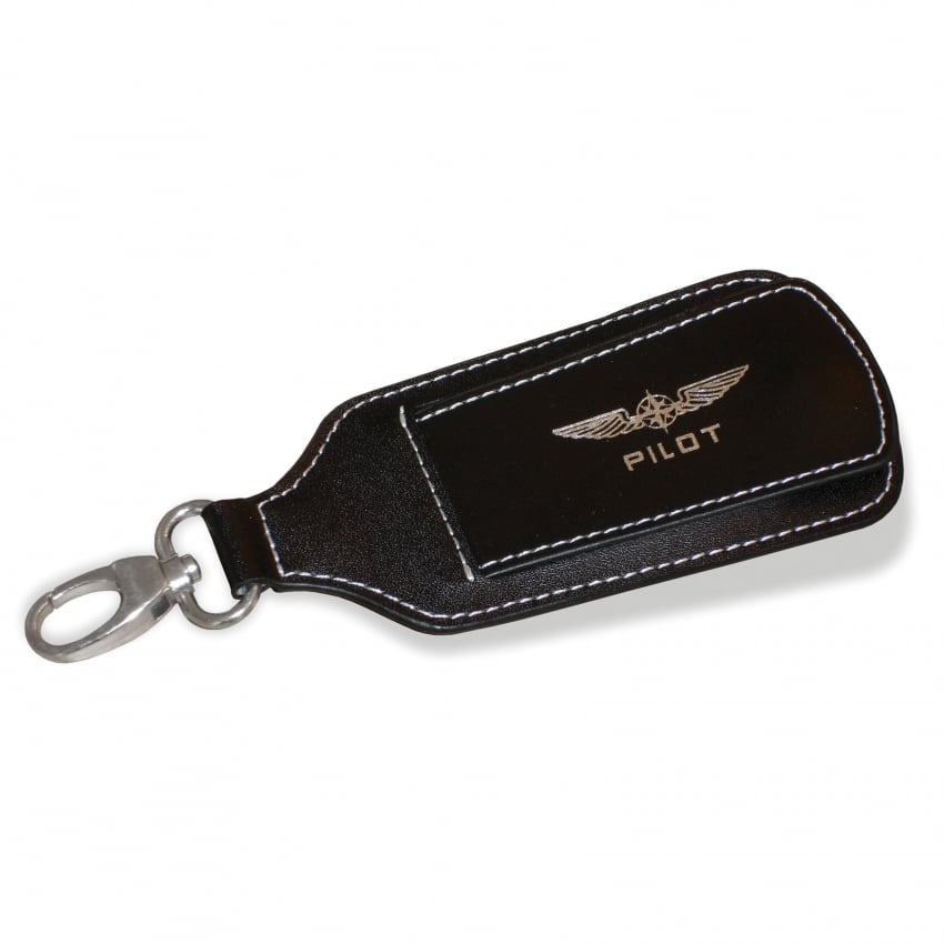 Pilot Wings Leather Luggage Keyring