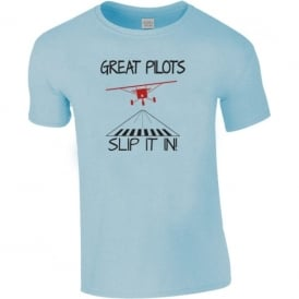Chocks Away Pilots Slip It in T-Shirt