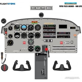 Piper PA-28 Archer Aircraft Cockpit Poster