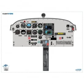 Piper PA-28 Arrow Aircraft Cockpit Poster
