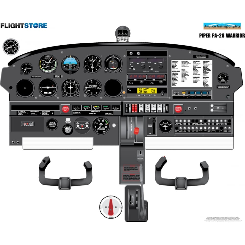 Piper Pa 28 Warrior Aircraft Cockpit Poster