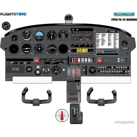 JetPubs Piper PA-28 Warrior Aircraft Cockpit Poster