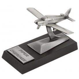 Clivedon Piper PA28 Cherokee Desk Model - Pewter