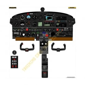 Piper PA44 Seminole Aircraft Cockpit Poster