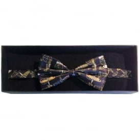Tie studio Planes Silk Bow Tie on Black