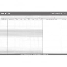 Pooleys Airways A4 Log Pad