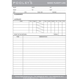 Pooleys Basic Log Pad