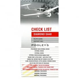 Pooleys Diamond DA40 Aircraft Checklist