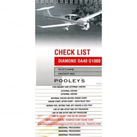 Pooleys Diamond DA40 G1000 Aircraft Checklist