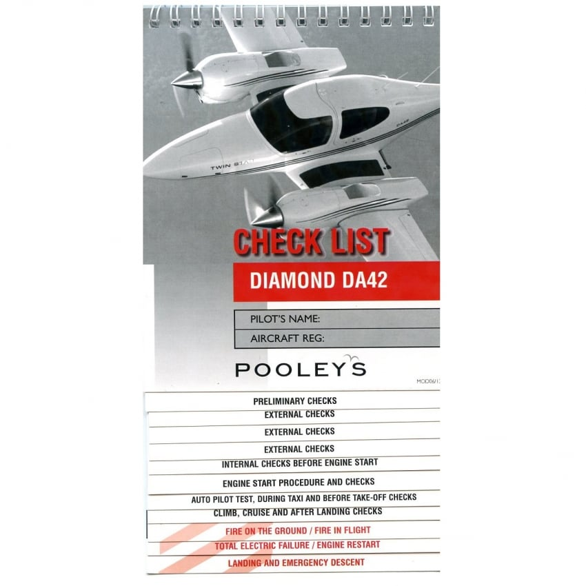 Diamond DA42 Aircraft Checklist
