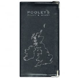 Pooleys Leather Diary Cover - Black