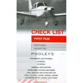 Pooleys PA 28 Aircraft Checklist