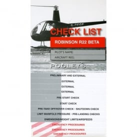Pooleys Robinson R22 BETA Checklist
