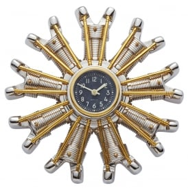 Powerplant Aluminium Wall Clock