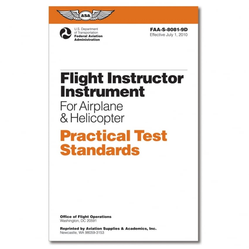 Practical Test Standards: CFI - Instrument
