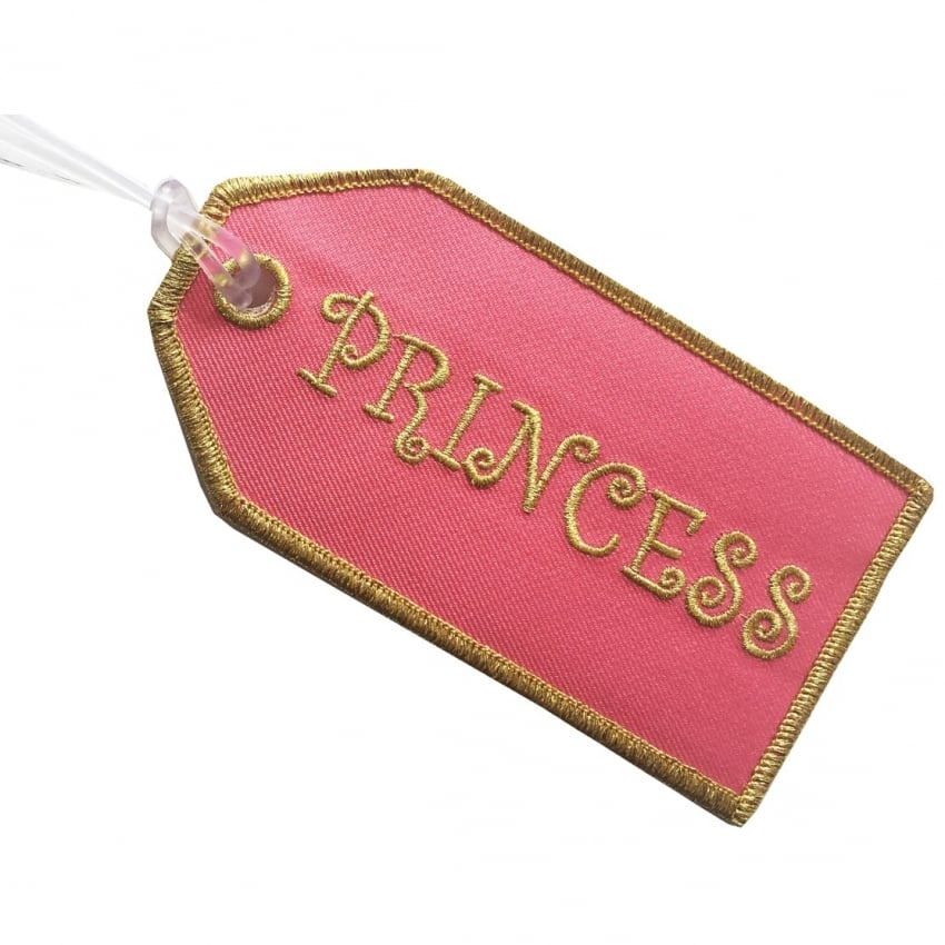 Princess Embroidered Baggage Tag