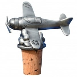 Aircraft Pewter Cork Bottle Stopper