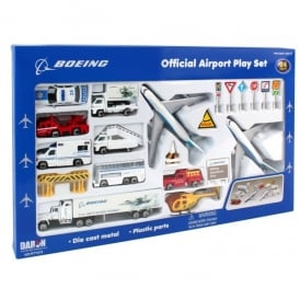 Boeing 24 Piece Commercial Airport Playset
