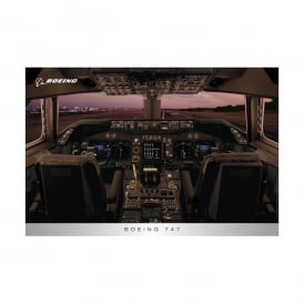 Boeing 747 Flight Deck Poster
