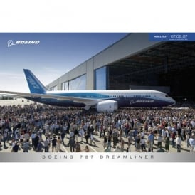 Boeing 787 Dreamliner Roll Out Poster