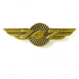 Boeing 747 Wings Pin Badge