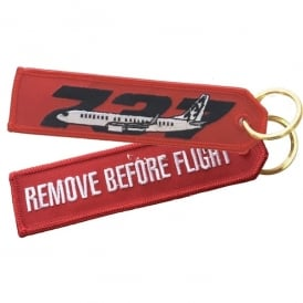 Boeing 737 RBF Embroidered Keyring