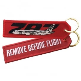 Boeing 787 RBF Embroidered Keyring