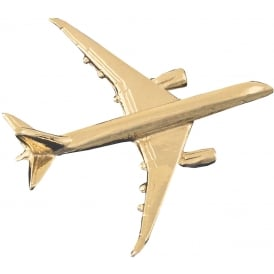 Boeing 787 Boxed Pin - Gold