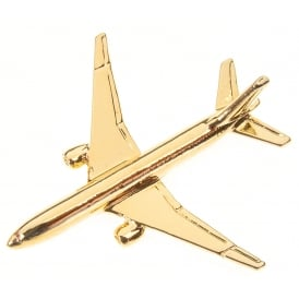 Boeing 777 Boxed Pin - Gold