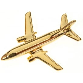 Boeing 737-400 Boxed Pin - Gold