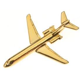 Boeing 717 Boxed Pin - Gold