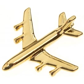 Boeing 707 Boxed Pin - Gold
