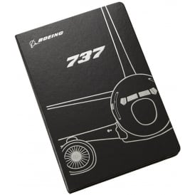 Boeing 737 Midnight Silver Notebook