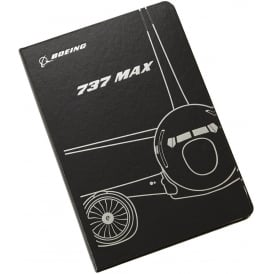 Boeing 737 Max Midnight Silver Notebook