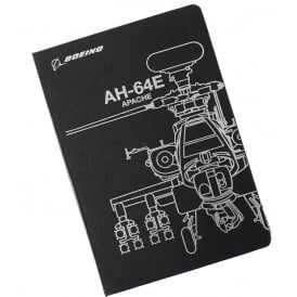 Boeing AH-64E Midnight Silver Notebook