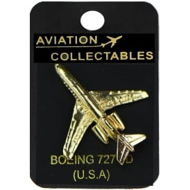 Boeing 727 Gold Pin Badge