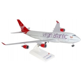 Boeing 747-400 Virgin Atlantic Plastic Model - Scale 1:200