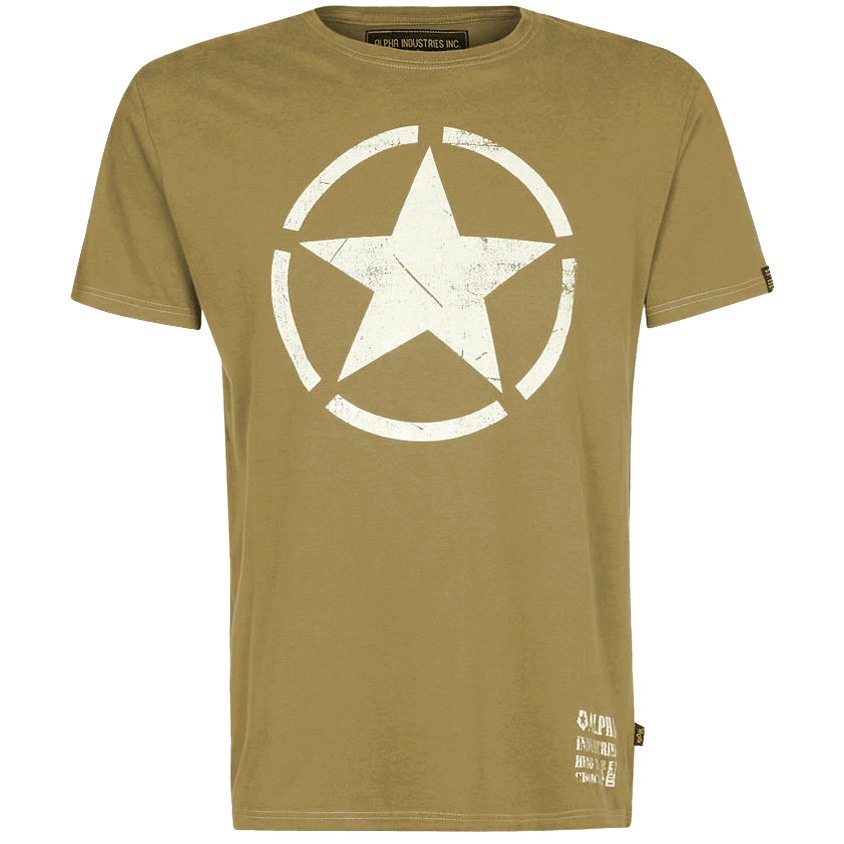 clothing t shirts logo t shirts alpha star t shirt olive. Black Bedroom Furniture Sets. Home Design Ideas