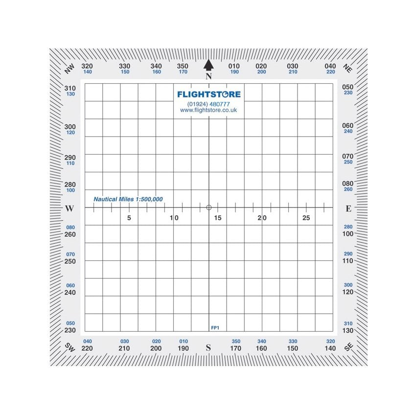 Protractor - Square White Border