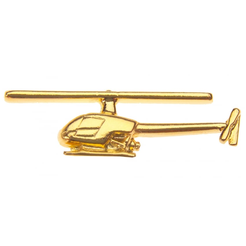 R22 Helicopter Boxed Pin - Gold