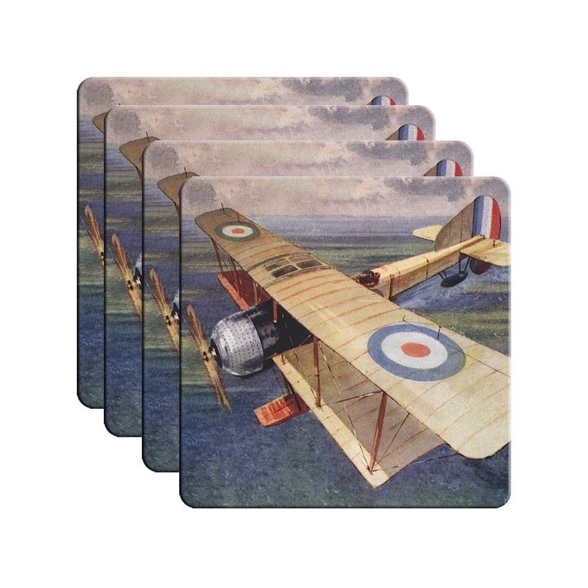 RAF Bi-Plane Coaster Set of 4