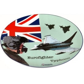 RAF Eurofighter Typhoon Crown Trent Bone China Plate